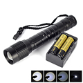 2016 New Portable XM-L T6 3800 Lumen Tactical Zoom Led Flashlight Torch Light linternas 18650 26650  linterna led for Camping