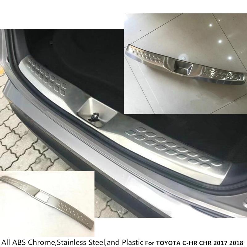 высокое качество для Toyota с-HR ЧР 2017 2018 авто внутренняя внутренняя заднего бампера из нержавеющей стали Накладки на пороги подоконник магистральные педали пластина 1шт