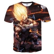 Anime Dragon Ball Z T shirts 3D T-shirts harajuku Tops Goku Ball Z Tee