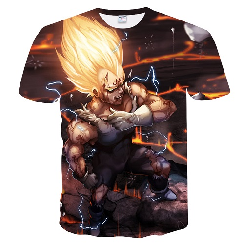 2018 Dragon Ball T shirt 3D Men T-shits Anime T-shirt harajuku Comics Tops Goku Ball Z print Tee Fashion stranger things
