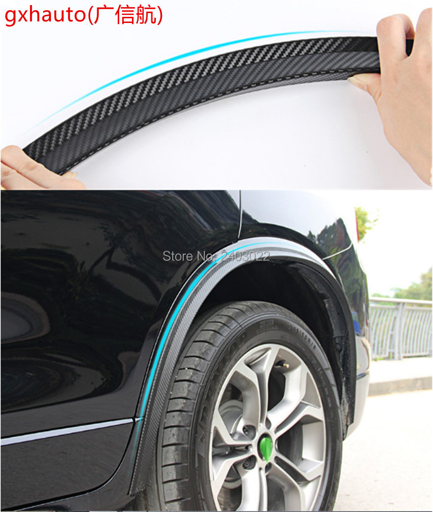 Car stickers rubber large round arc strips fender wheel eyebrow for vw golf 1 2 3 4 5 6 7 mk2 mk3 mk4 mk5 mk6 mk7 golf gti jett in mudguards from