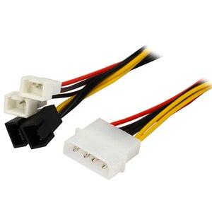Image 2 - IDE Molex 4 контактный в чехол Вентилятор охлаждения 3 контактный TX3 Multi Fan адаптер питания конвертер кабель с снижением скорости, 2x 5V/2x12V