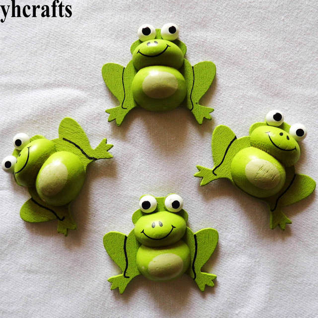 5pcs Lot 3d Frog Wood Stickers Spring Easter Crafts Plant Garden