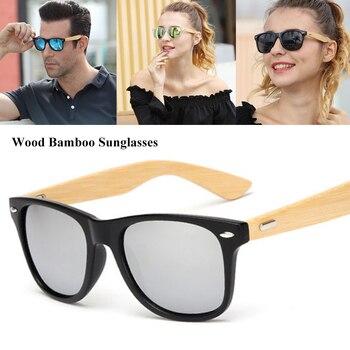 da9fed5c07 WarBLade Bmaboo gafas de sol de las mujeres de los hombres de madera Retro  gafas de sol lunette de soleil femme 2019 marca de luxe Vintage