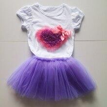 purple pettiskirt children sets puff-sleeved tee shirt set girls cute style tee wholesale hallaween
