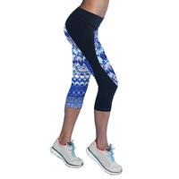 New Printed Leggings Move Brand Yoga Pants Trousers Women Waist Stretched Sports Pant For Women High