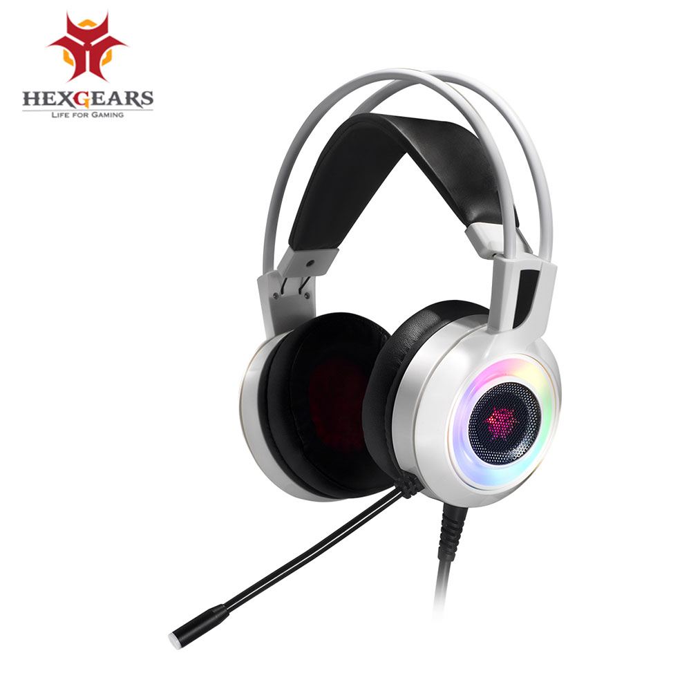 HEXGEARS Headset Gamer 7.1 Stereo RGB Light Shock Feedback USB PC Phone Gaming Headphone with Mic Earphone Bass Auriculares new each g1000 deep bass gaming headphone stereo surround over ear headset 3 5mm usb headphones with mic led light for pc gamer