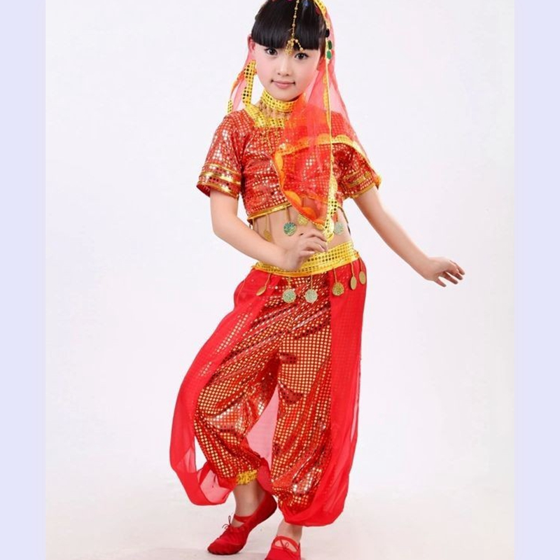 Child indian dance costume set dance performance wear leotard for girl  indian saree indian dress sari2023 wholesales-in Chinese Folk Dance from  Novelty ... e2f752056