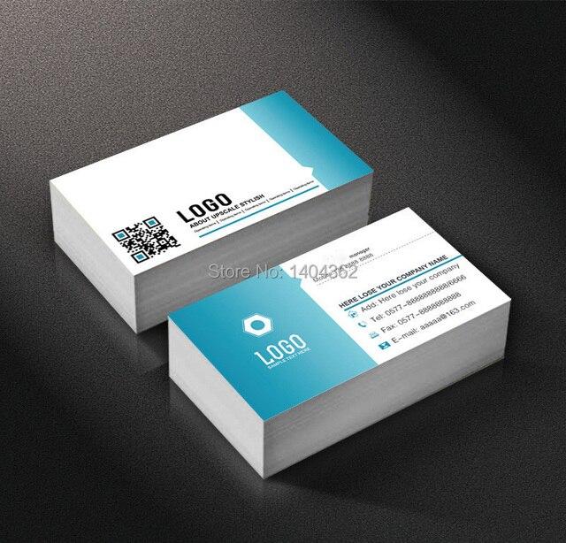 כרטיס ביקור 500pcs נייר כרטיס ביקור 300gsm משי למינציה נייר כרטיסי עם לוגו מותאם אישית הדפסת NO.1021