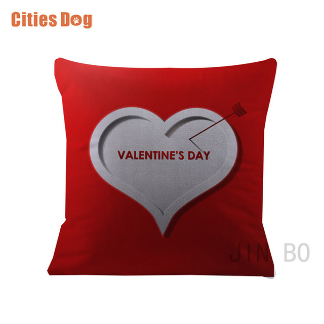 Us 595 30 Offmiłość Valentine Poduszki Dekoracyjne Poszewka Kolor Serca Aksamitnej Tkaniny Dekoracji Prezent 35x35 55x55 Cm Poduszki Almofada W