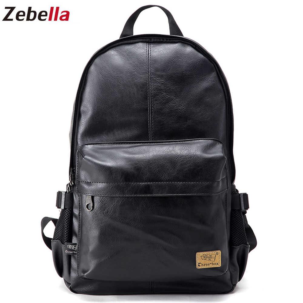 ccd6a53f7ee5 Zebella брендовые винтажные мужские рюкзаки из искусственной кожи Школьные  женские сумки подростковые повседневные сумки для ноутбука