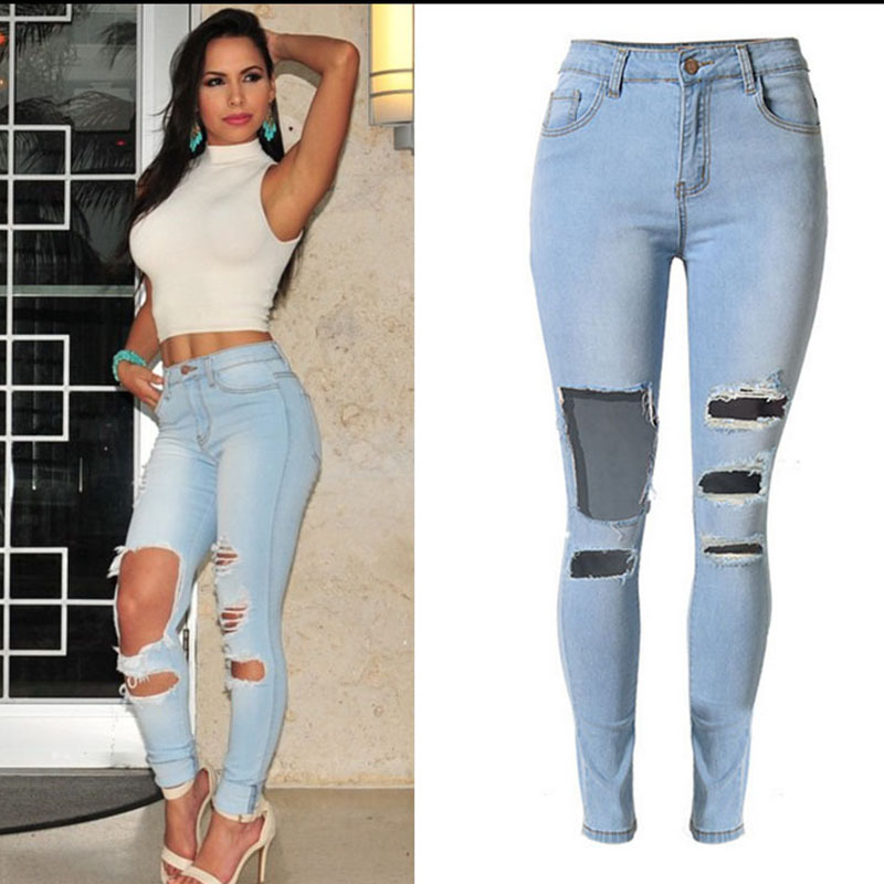 feminino high waist jeans woman skinny ripped jeans for women warm jeans femme american apparel denim pants vaqueros mujer jean feminino high waist jeans woman skinny