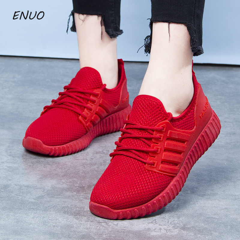 New Arrival Breathable Flat Shoes Woman Summer Ladies Casual Shoes Lightweight Red Soft Sneakers Women Zapatos MujerNew Arrival Breathable Flat Shoes Woman Summer Ladies Casual Shoes Lightweight Red Soft Sneakers Women Zapatos Mujer