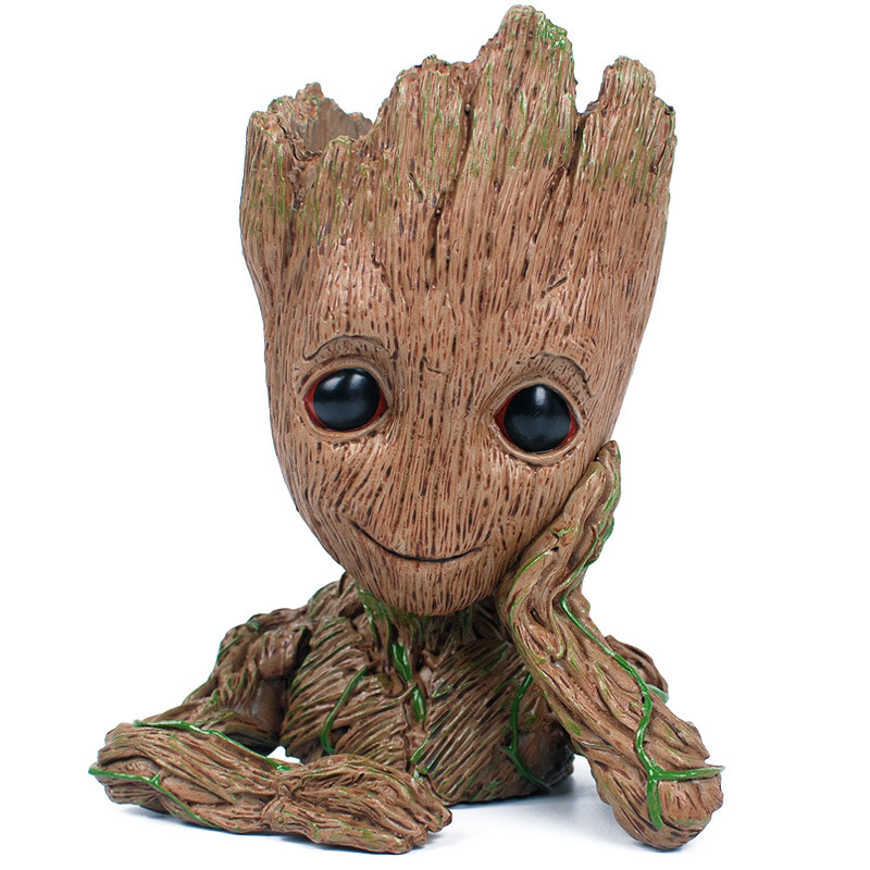 Promotional Price Marvel Movie Flowerpot Groot ABS Model Figure Toy High quality Baby Groot Antistress Tree Man Decoration Gift