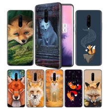 Arctic Fox Soft Black Silicone Case Cover Afor OnePlus 6 6T 7 Pro 5G Ultra-thin TPU Phone Back Protective