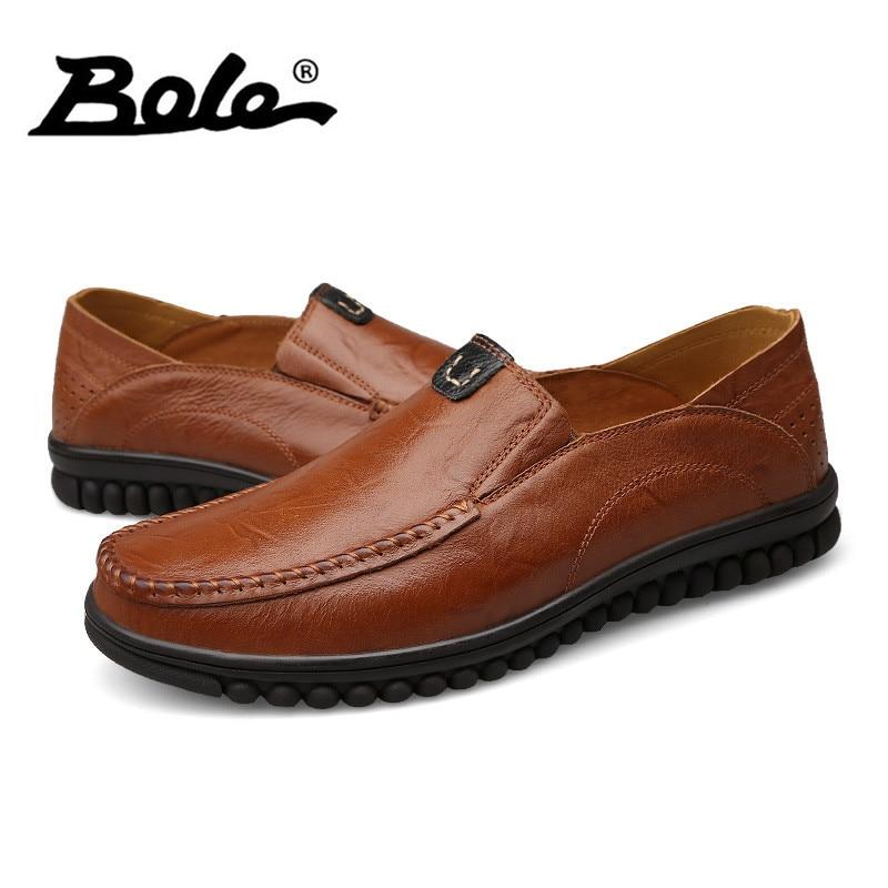 Hommes Plat Chaussures Mocassins Vente Chaude Design De Mode Glissent Respirant Hommes À La Main En Cuir Véritable Hommes Chaussures xyZFS