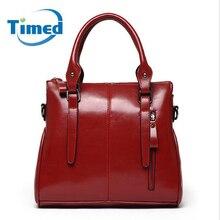 Nouveau 2016 Mode femmes véritable sac en cuir, Vintage sacs à main célèbre marque de vache sac à bandoulière dames rouge/bleu messenger sac