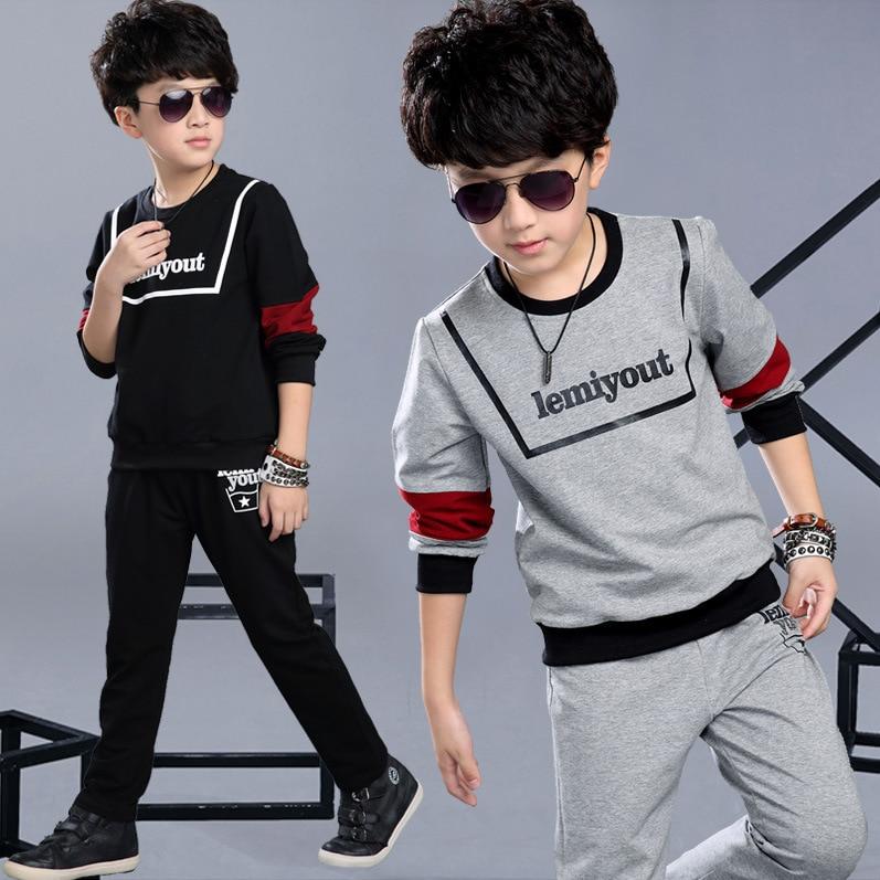 Sports Suit Kids 2017 Spring Autumn 2 Piece T Shirt + Pants Sports Suit Children Boys Clothing Set Sports Set Track Suit for Boy
