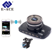 E-ACE Car Dvr Wifi Mini Camera Full HD 1080P Video Recorder Camcorder Dual Lens Automotive Registrator Loop Recording  Dash Cam