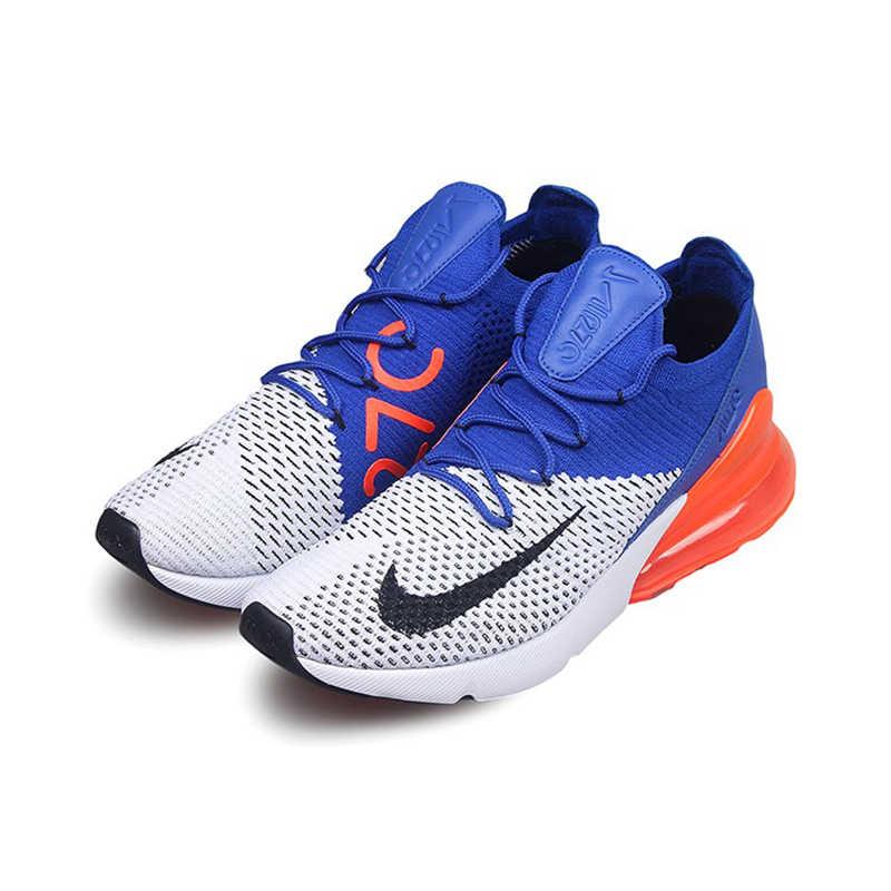 1a67fbfe6eeb ... Nike Air Max 270 Cushion Sneakers Sport Flyknit Running Shoes Classic  Blue Orange Black AO1023- ...