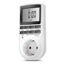 Outlet Plug-in Style Timer Switch Large Digital LCD Display Smart Control Socket (EU/US)