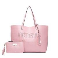 2PCS/set new fashion vs love pink bag travel duffel bag women Travel SHOULDER BAG Handbags beach large capacity shopping bags