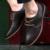 ZNPNXN Marca Homens Flats Oxfords Shoes Para Os Homens Se Vestem Sapatos Sapatos de Couro Genuíno Apartamentos de Estilo Britânico Homens