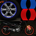 New 17/18 Inch New Flame Reflective Rim Tape Wheel Stripes Stickers Vinyl Decal Car For Kawasaki Z800 Z750 Z250 Z1000 ER6N ER6F