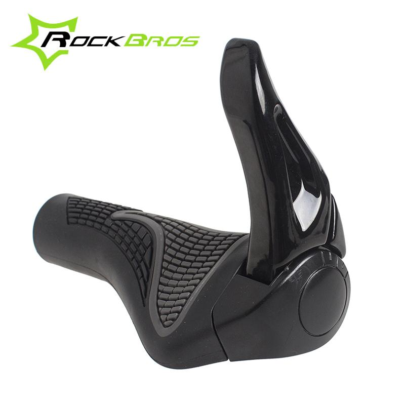RockBros Bicycle Cycling Handlebar Rubber Grip  Black Gray Aluminum Barend White