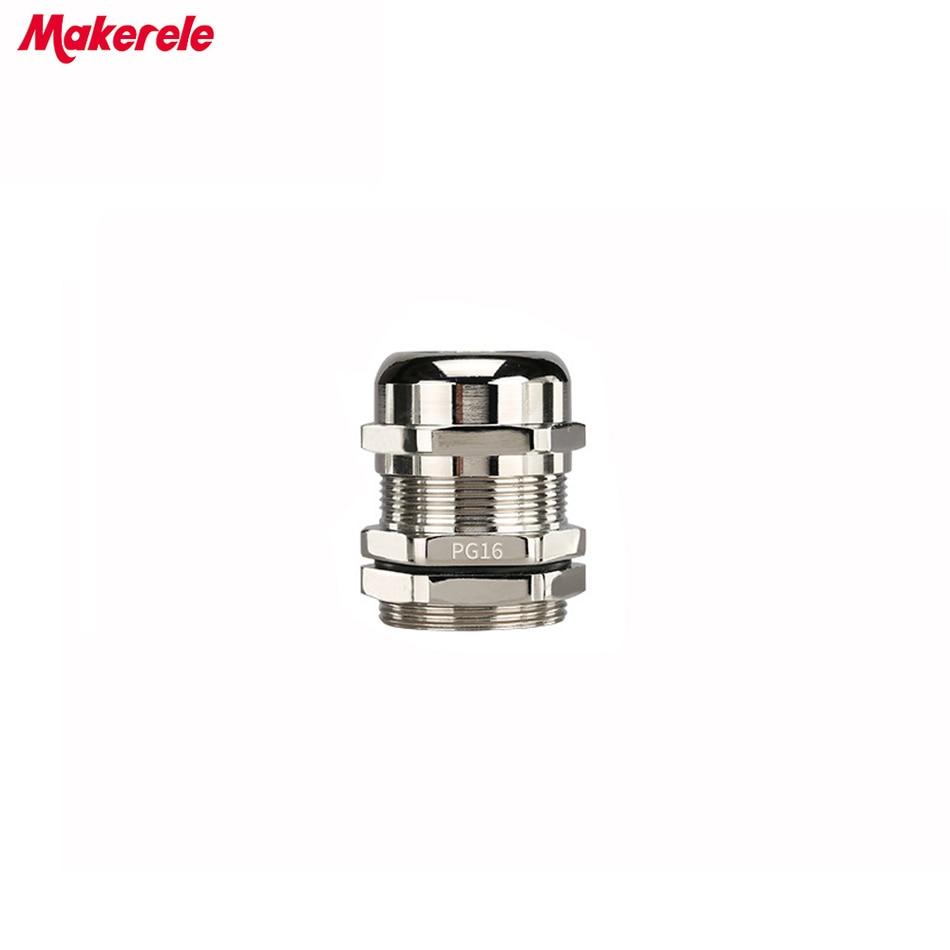 Presse-étoupe 10 pcs/lots PG19 Nickel laiton métal étanche Joints IP68 câble connecteur pour câble 10-14mm