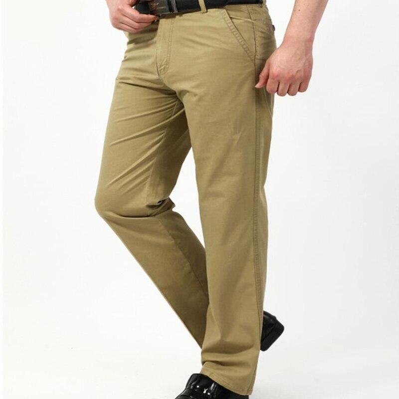 Designer brand 2018 new men cargo joggers casual cotton Khaki pants men's business long slim trousers male