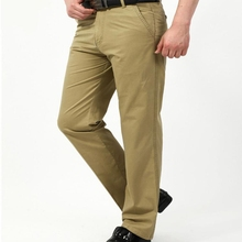 купить Designer brand 2018 new men cargo joggers casual cotton Khaki pants men's business men long pants slim men trousers male дешево