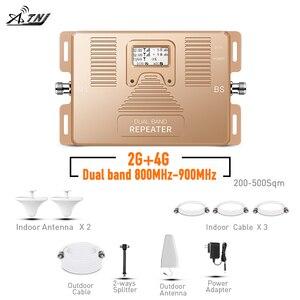 Усилитель сигнала мобильного телефона, двухдиапазонный 800/900 МГц 2G 4G, повторитель сигнала для дома, офиса с усилителем сигнала большой площа...