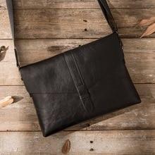 Fashion Men brief case Genuine Leather Brand Business Male High Quality Man Crossbody Messenger  Black Cover Shoulder Bag цена в Москве и Питере