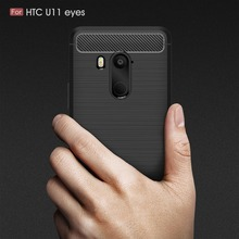 For HTC U11 Plus Case Carbon Fiber Shockproof Silicone Protective Back Cover for HTC U11 Life U11 Eyes Case Ultra Thin Funda цена и фото