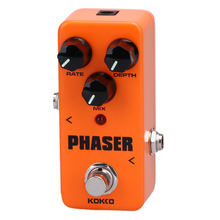 Portable Mini Pedal Phaser Guitarra Pedal Efectos Calidad Portatil Guitar Part Musical Instruments True Bypass Phaser