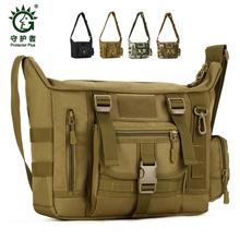 Protector Plus męski taktyczny worek torba na ramię męska zewnętrzna torba na 14 #8221 Laptop wodoodporna torba wojskowa Crossbody tanie tanio STOUREG 22090 Unisex Tactical sling shoulder bag Miękka NYLON
