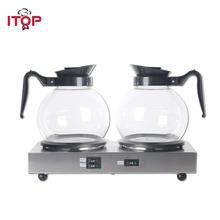 ITOP New Stainless Steel Coffee Maker Machine Boiler&Warmer Electric Coffee Pots Machine With thermostat control Design
