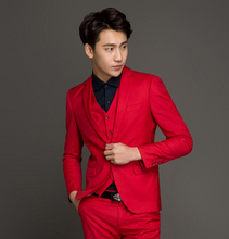 Slim Custom Fit Tuxedo Brand Bridegroon Business Wedding Suits Blazer Men's Prom Party Clothing Suits Groom Tuxedos