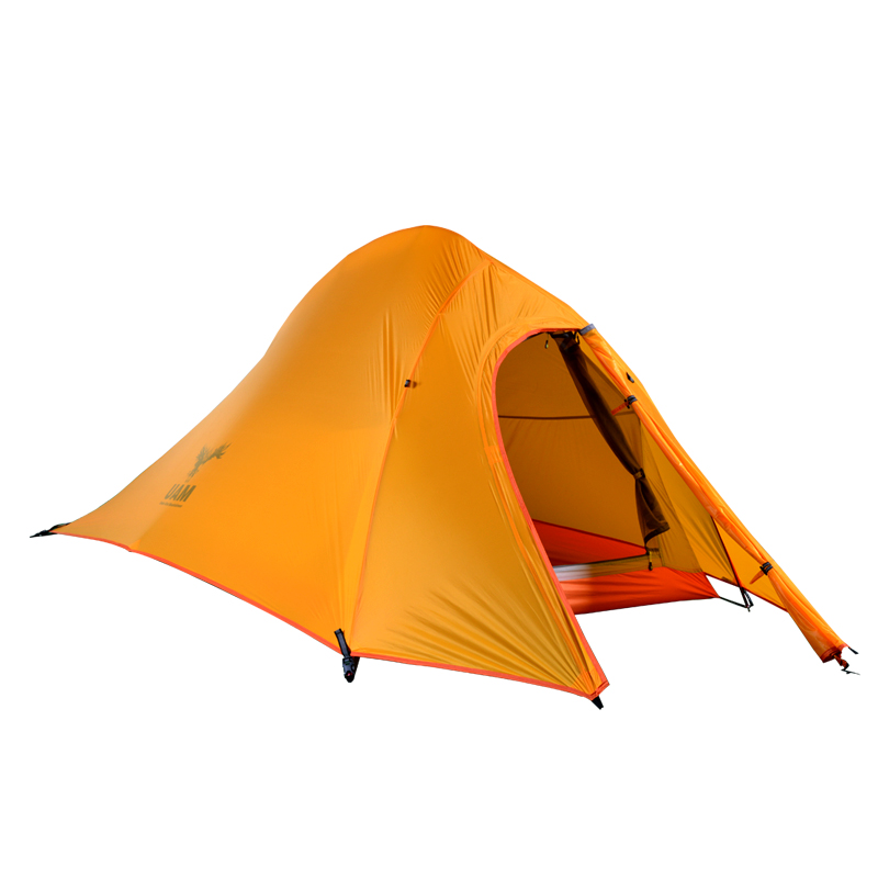 Hillman 20D Silicone Self Standing Tent With Floor Mat Ultralight 2 Person Double Layers Aluminum Rod Camping Tent 4 Season 3kg ultralight camping tent 2 3person coated with 20d silicon double layers aluminum rod snow mountain keep warm tents