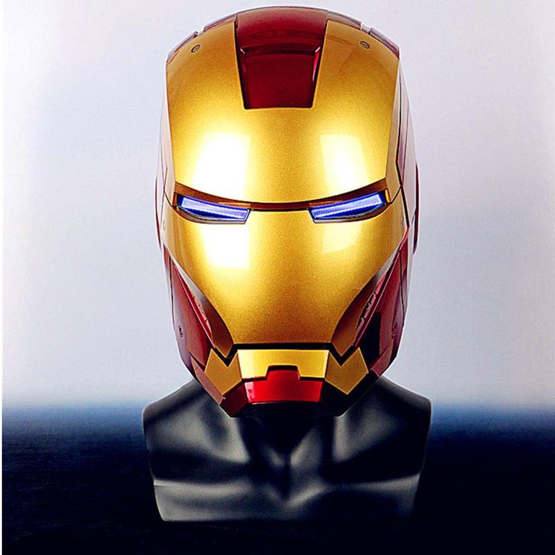 Avenger 1/1 Iron Man MK3 casque anneau contrôle Version MK7 casque électrique ouverture Version Cosplay Collection Figure Statue L2641