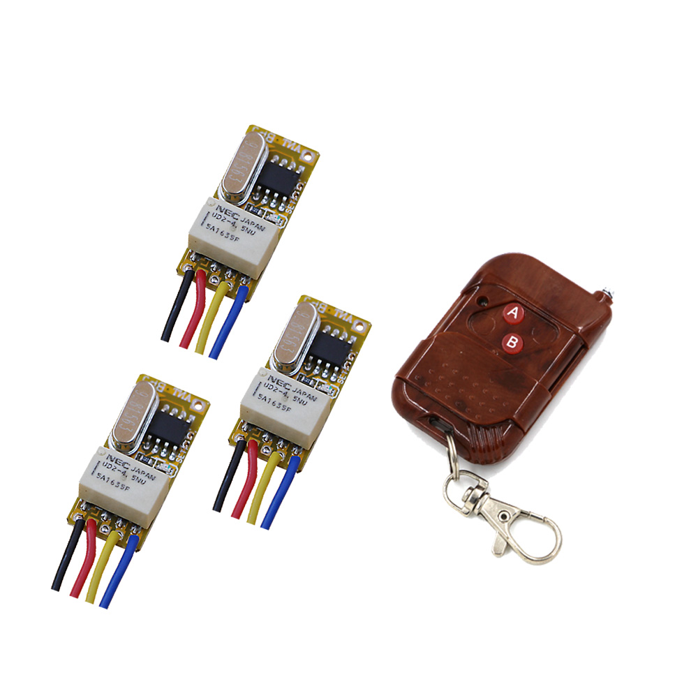 DC3V 3.6V 3.7V 5V 6V 7.4V 9V 12V RF Micro Remote Control Switch Wireless Controller Micro Relay Receiver Transmitter 315/433Mhz dc3v 3 7v 5v 6v 7v 9v 12v mini relay wireless switch remote control power led lamp controller micro receiver transmitter system