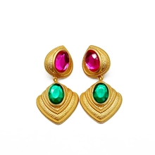 Free Shipping Mixed Color Geometric Sweet Stud Earring
