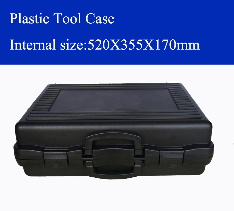 520X355X170mm Plastic Tool Case Suitcase Toolbox Impact Resistant Safety Case Equipment Instrument Box With Pre-cut Foam