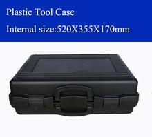 520x355x170 мм Пластик инструмент случае чемодан Toolbox ударопрочный безопасности случае оборудование инструмент коробка с предварительно -cut пены