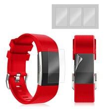 Displayschutzfolie Für Fitbit Ladung 2 Full Cover Ultra dünne Einfach zu Installieren Smartwatch Schutzfolie für Fitbit Ladung 2