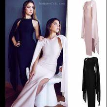 2017 elegant sexy balmai women maxi evening party bandage dress celebrity gown bodycon fashion slit kardashian dress