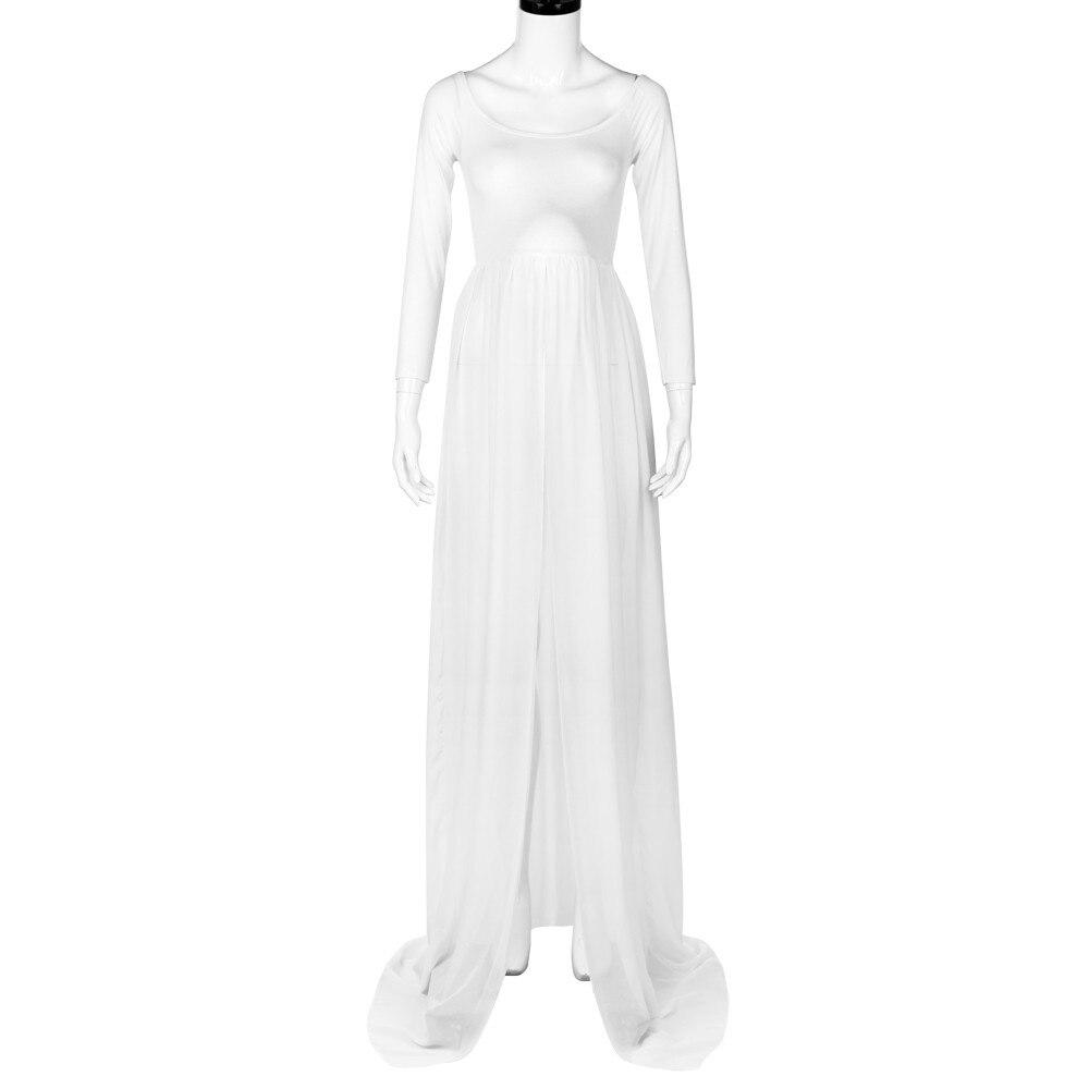 Maternity Dresses Photography Props Summer Beach White Maternity Long Dress Fancy Pregnant Women Dresses vestidos embarazadas ...