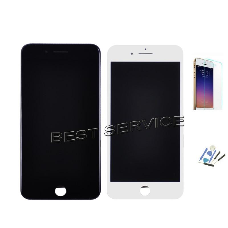 imágenes para 4.7 ''y 5.5'' Para el iphone 7 7 más Pantalla LCD Con Pantalla Táctil Digitalizador Asamblea para iphone7 blanco Negro + Herramientas