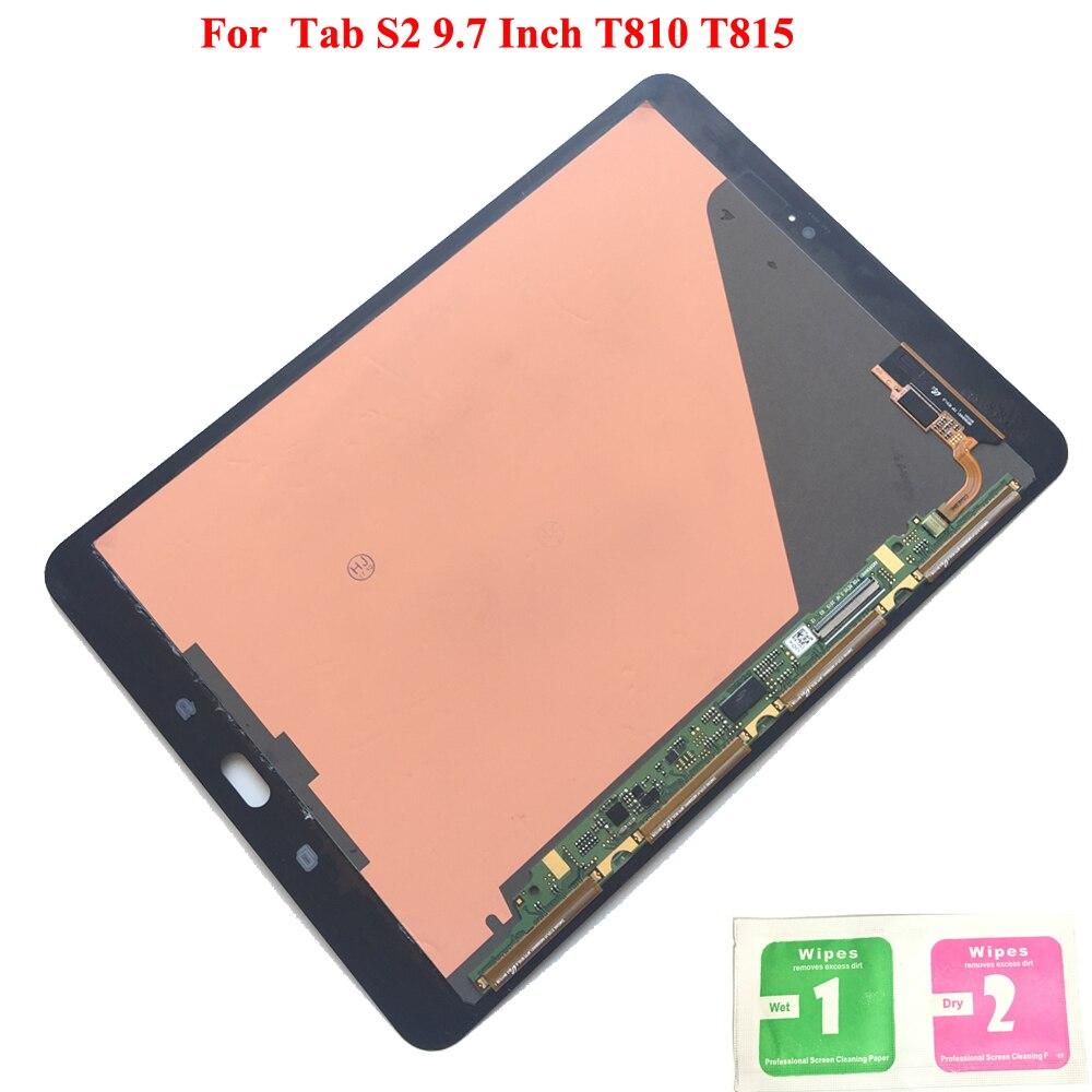 Nouveau LCD écran tactile numériseur capteurs assemblage panneau remplacement pour Samsung GALAXY Tab S2 9.7 pouces T810 T815